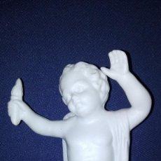 Antigüedades: BISCUIT . ANGEL 'MOSTRANTE' A DERECHAS. ENTRE SIGLOS XVIII.- XIX. MEDIDAS 17CM. PERFECTO ESTADO. Lote 112549887