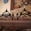 Antigüedades: CANDELABRO FORJA. Lote 112564311