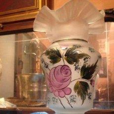 Antigüedades: PRECIOSO JARRÓN EN CRISTAL GLASEADO LA GRANJA. Lote 112566803
