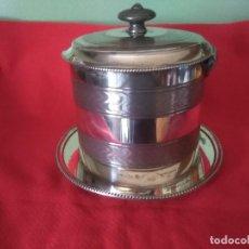 Antigüedades: GALLETERO INGLES ANTIGUO PLATA SHEFFIELD. Lote 112597215