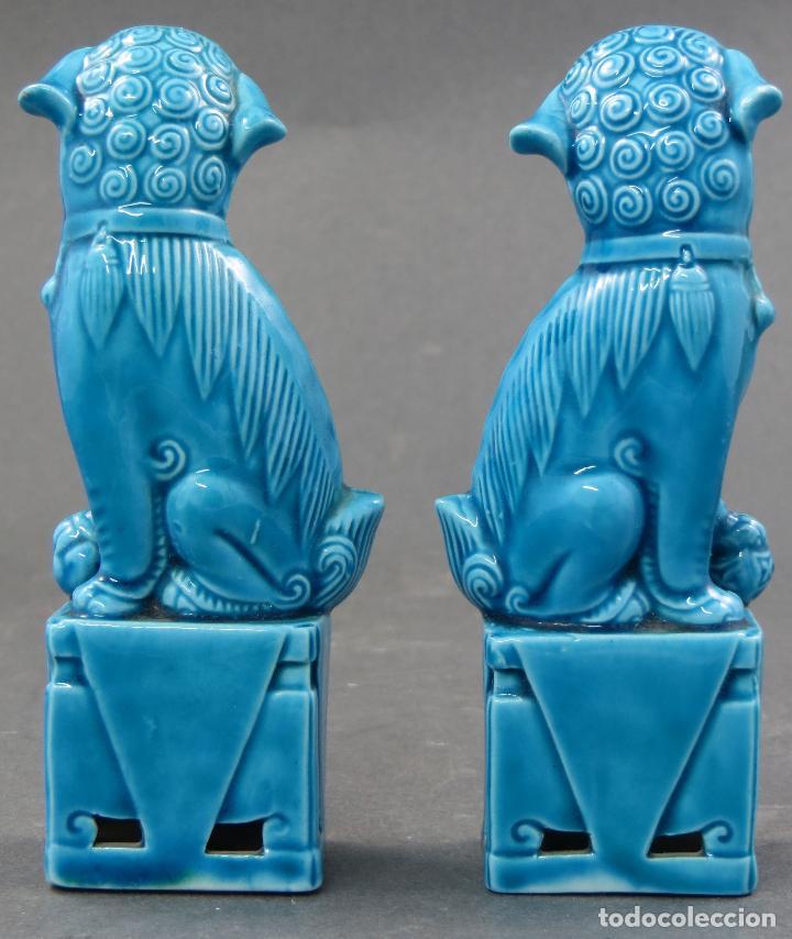 Antigüedades: Pareja Furias Foo cerámica China S XX - Foto 3 - 112597851