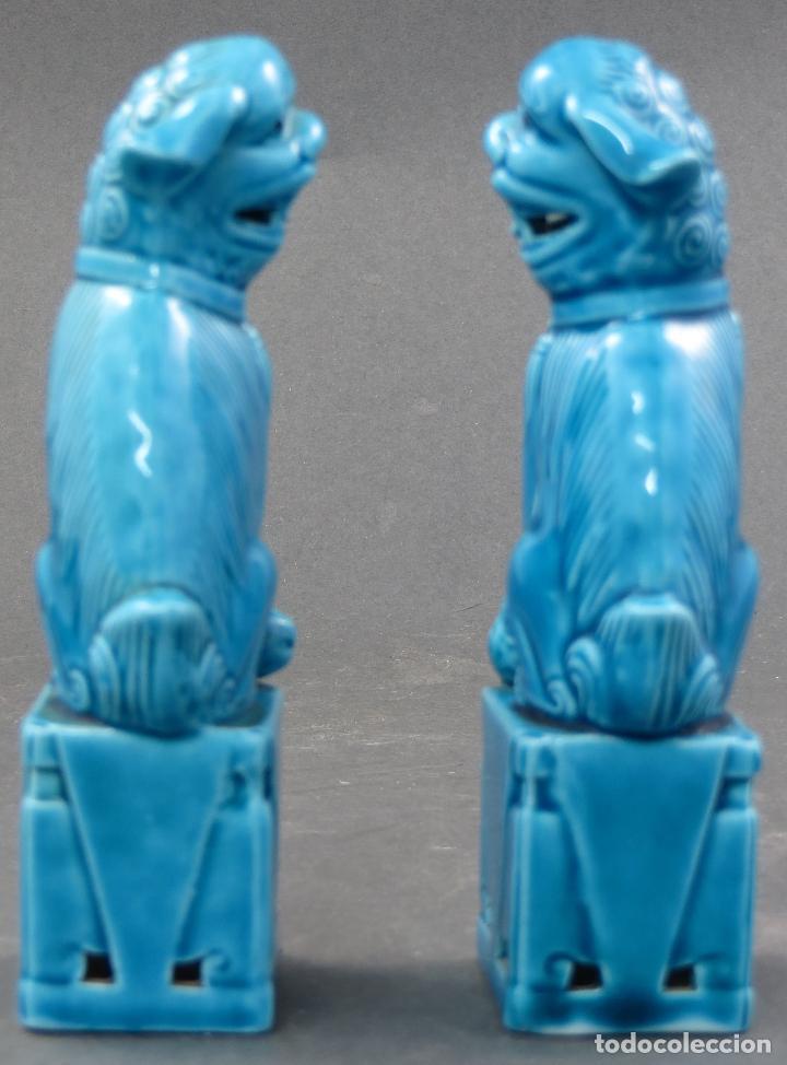 Antigüedades: Pareja Furias Foo cerámica China S XX - Foto 4 - 112597851