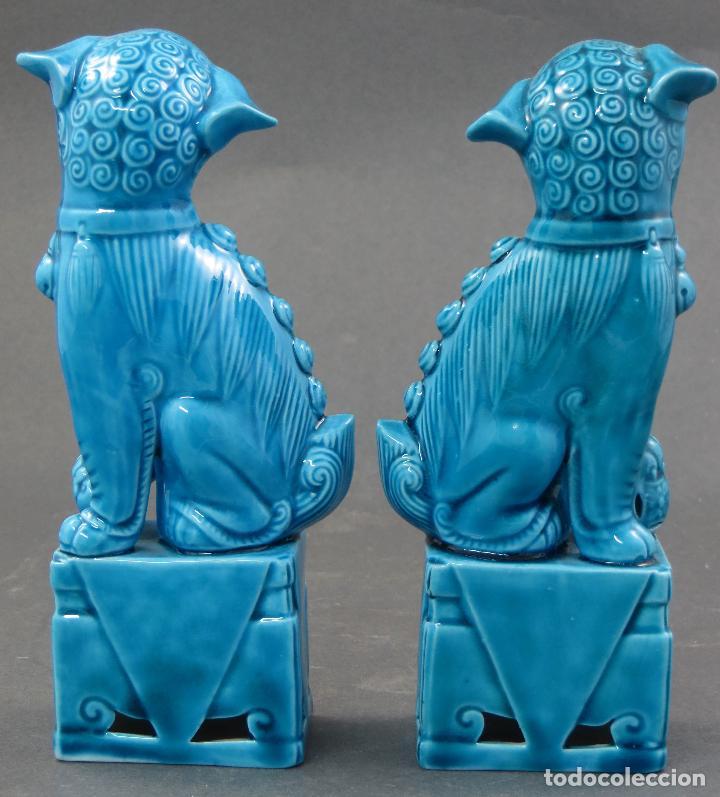 Antigüedades: Pareja Furias Foo cerámica China S XX - Foto 3 - 175026979