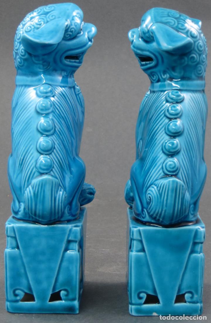 Antigüedades: Pareja Furias Foo cerámica China S XX - Foto 4 - 175026979