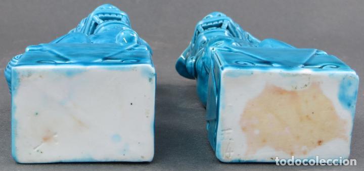 Antigüedades: Pareja Furias Foo cerámica China S XX - Foto 5 - 175026979