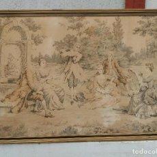 Antigüedades: TAPIZ ANTIGUO Y GRANDE. Lote 112607031