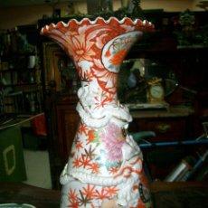 Antigüedades: GRAN JARRON EN CERAMICA O PORCELANA CHINA, MEDIDAS ALTURA 62 CM BOCA 25 CM.. Lote 112607215