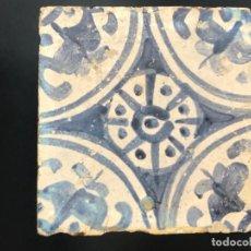Antigüedades: VALENCIA CONSERVADO AZULEJO GÓTICO VALENCIANO. . Lote 112617151