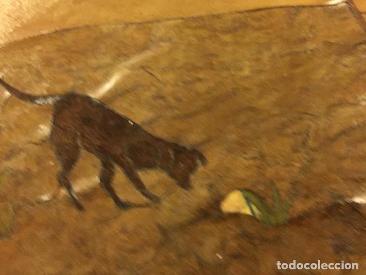 Antigüedades: Extraordinaria mesa de juego abatible con marqueteria policromada. Mide 94cms de diametro. Leer mas. - Foto 10 - 112617175