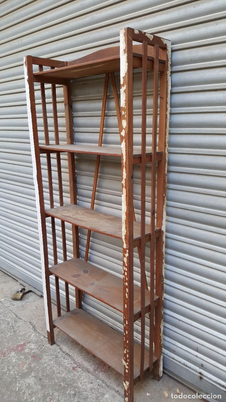 Estanteria Libreria Madera Frutal Para Restau Comprar Muebles