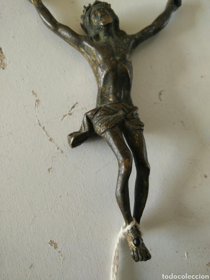 Antigüedades: Crucifijo de metal - Foto 2 - 112627667