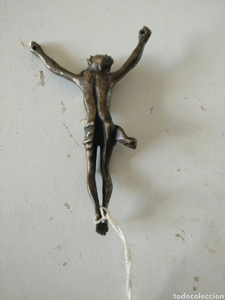 Antigüedades: Crucifijo de metal - Foto 3 - 112627667