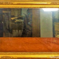 Antigüedades: ESPEJO NAPOLEÓN III. MADERA Y ESTUCO. DORADO A HOJA DE ORO. FRANCIA. CIRCA 1850. Lote 112632307