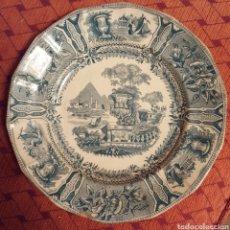 Antigüedades: SARGADELOS PLATO III EPOCA S.XIX SELLO INCISO. Lote 112661763