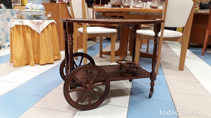 Camarera antigua de madera carrito de servir a comprar muebles auxiliares antiguos en - Carrito camarera vintage ...