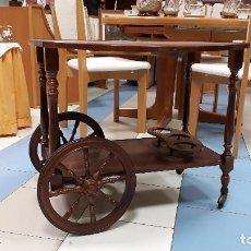 Antigüedades: CAMARERA ANTIGUA DE MADERA, CARRITO DE SERVIR ANTIGUO RETRO VINTAGE, MUEBLE BAR CARRO LICORERA. Lote 112682087
