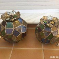 Antigüedades: DOS FAROLES DE DIFERENTES MEDIDAS . Lote 112688403