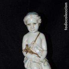 Antigüedades: FIGURA DE VIRGO EN AUTÉNTICA PORCELANA ALGORA DOCUMENTADA. PERFECTO ESTADO. Lote 112695683
