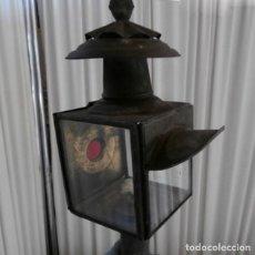 Antigüedades: ANTIGUO FARO DE CARRO DE HIERRO. PRINCIPIOS SIGLO XX. Lote 112703227