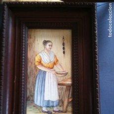 Antigüedades: AZULEJO PINTADO POR VICENTE GALLEN (ALCORA). Lote 112707163