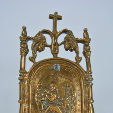 Antigüedades: PORTAPAZ ANTIGUO F.S. XVI- MAGDALENA HACIENDO PENITENCIA CRUZ AL FONDO - IGLESIA. Lote 112708603