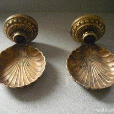 Antigüedades: JABONERAS DE BRONCE . Lote 112713983