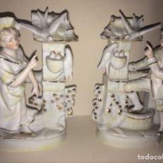 Antigüedades: 2 FIGURAS DE PORCELANA. Lote 112747566