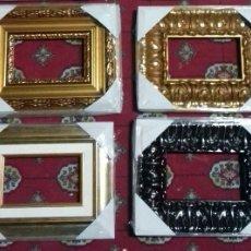 Antigüedades: LOTE DE 4 MARCOS PARA OBRAS 11X18 DE CHECA GALINDO. NUEVAS. A ESTRENAR.. Lote 112750067