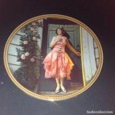 Antigüedades: PLATO DE PORCELANA NORMAN ROCKWELL REDISCOVERED WOMEN STANDING IN THE DOORWAY,EDICION LIMITADA 1983. Lote 112761059