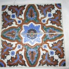 Antigüedades: PAREJA DE AZULEJOS RAMOS REJANO. Lote 112766051