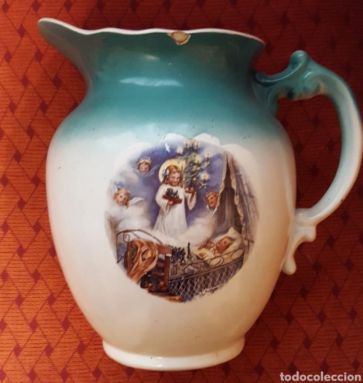 SAN CLAUDIO JARRO Y PALANGANA 1929 (Antigüedades - Porcelanas y Cerámicas - San Claudio)