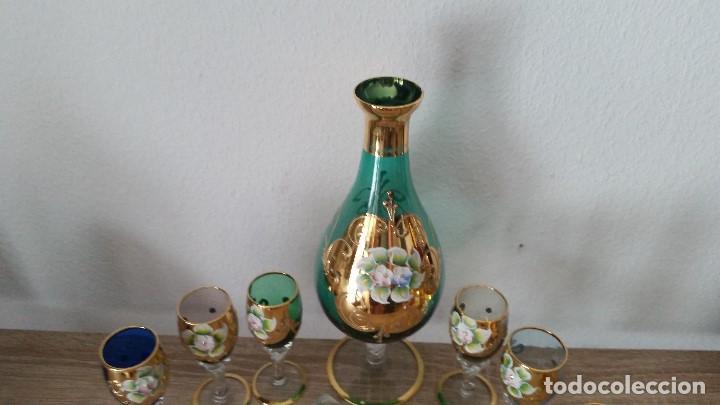 Antigüedades: PRECIOSO Y MUY ELEGANTE JUEGO DE CRISTAL MORANO HECHO Y PINTADO A MANO ANOS 40,50 - Foto 3 - 112784231