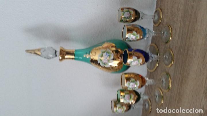 Antigüedades: PRECIOSO Y MUY ELEGANTE JUEGO DE CRISTAL MORANO HECHO Y PINTADO A MANO ANOS 40,50 - Foto 10 - 112784231