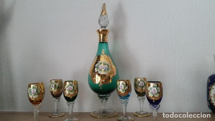 Antigüedades: PRECIOSO Y MUY ELEGANTE JUEGO DE CRISTAL MORANO HECHO Y PINTADO A MANO ANOS 40,50 - Foto 11 - 112784231