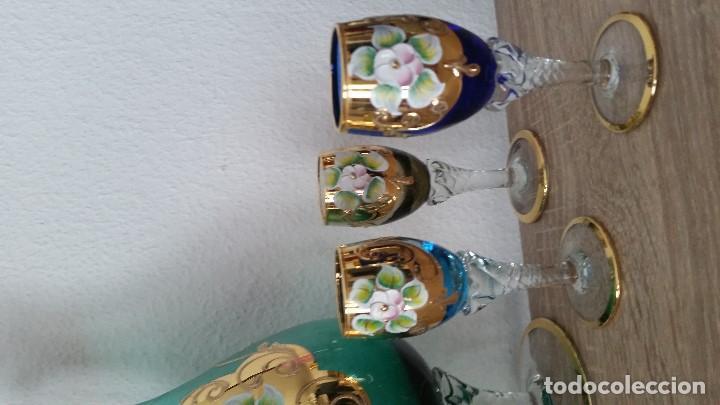 Antigüedades: PRECIOSO Y MUY ELEGANTE JUEGO DE CRISTAL MORANO HECHO Y PINTADO A MANO ANOS 40,50 - Foto 12 - 112784231