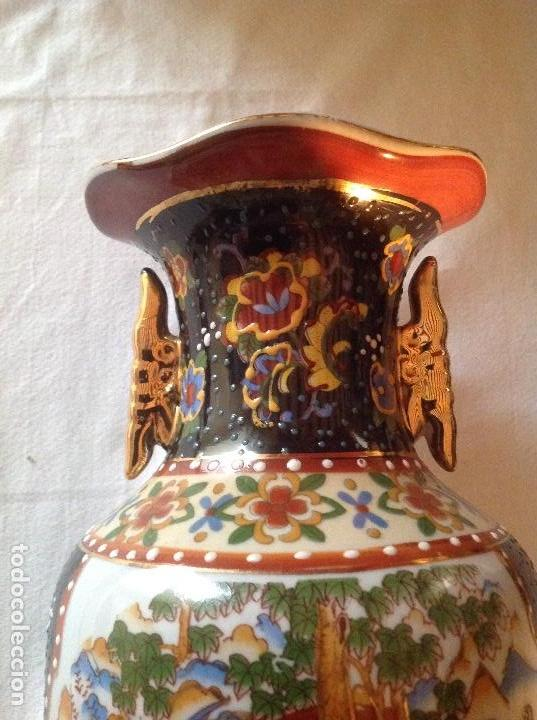 Antigüedades: JARRÓN ANTIGUO DE PORCELANA CHINA SELLO FIRMA BORROSO EN PARTE - Foto 8 - 112784791