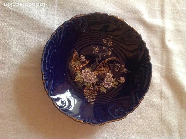 PLATO DE PORCELANA JAPONESA SELLO FIRMA EIHO (Antigüedades - Porcelana y Cerámica - Japón)