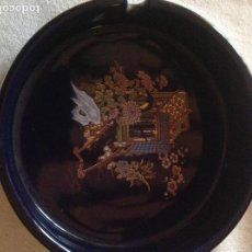 Antigüedades: CENICERO ANTIGUO DE PORCELANA JAPONESA SELLO FIRMA SATSUMA. Lote 112785607