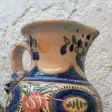 Antigüedades: JARRÓN DE TALAVERA FIRMADO. Lote 112787511