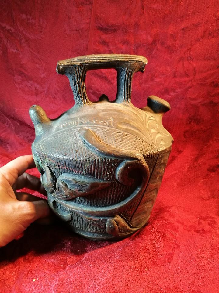 Antigüedades: BOTIJO. CERÁMICA PATINADA. RECUERDO DE MONTSERRAT. ESPAÑA. SIGLOS XIX-XX - Foto 6 - 112801295