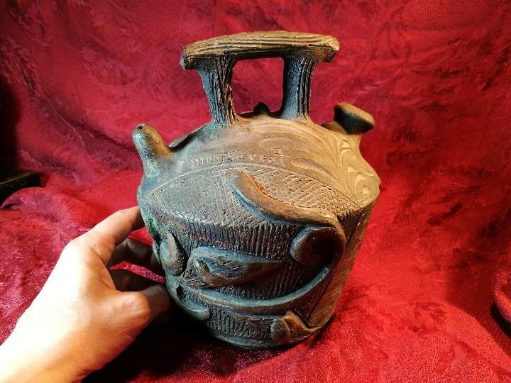 Antigüedades: BOTIJO. CERÁMICA PATINADA. RECUERDO DE MONTSERRAT. ESPAÑA. SIGLOS XIX-XX - Foto 8 - 112801295