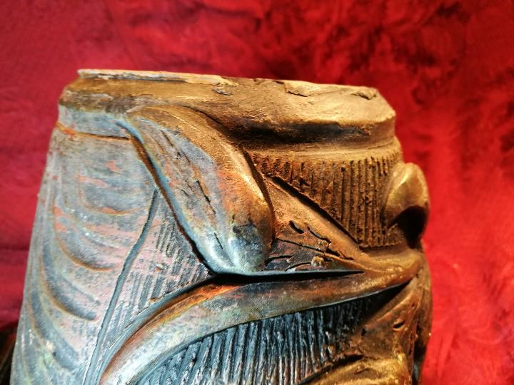 Antigüedades: BOTIJO. CERÁMICA PATINADA. RECUERDO DE MONTSERRAT. ESPAÑA. SIGLOS XIX-XX - Foto 15 - 112801295
