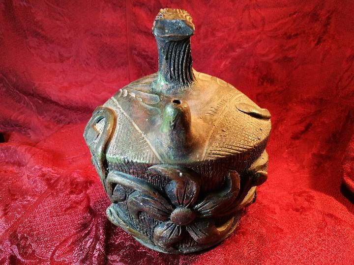 Antigüedades: BOTIJO. CERÁMICA PATINADA. RECUERDO DE MONTSERRAT. ESPAÑA. SIGLOS XIX-XX - Foto 23 - 112801295