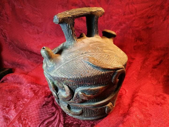 Antigüedades: BOTIJO. CERÁMICA PATINADA. RECUERDO DE MONTSERRAT. ESPAÑA. SIGLOS XIX-XX - Foto 24 - 112801295