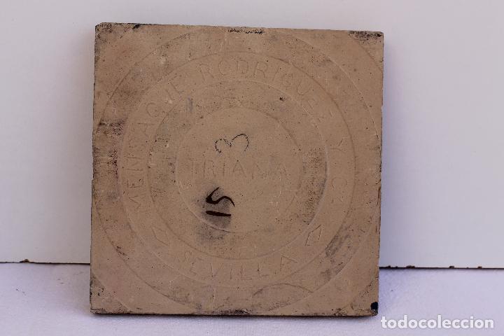 Antigüedades: 9 AZULEJOS DE MENSAQUE RODRIGUEZ FINALES SIGLO XIX - Foto 4 - 112806583