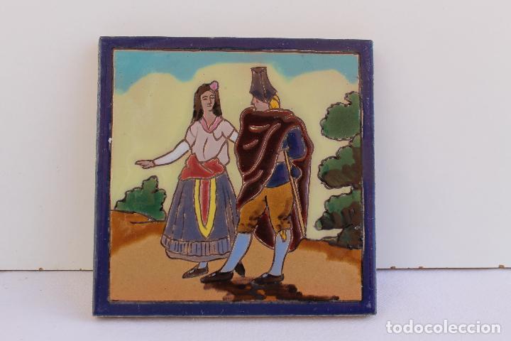 Antigüedades: 9 AZULEJOS DE MENSAQUE RODRIGUEZ FINALES SIGLO XIX - Foto 5 - 112806583
