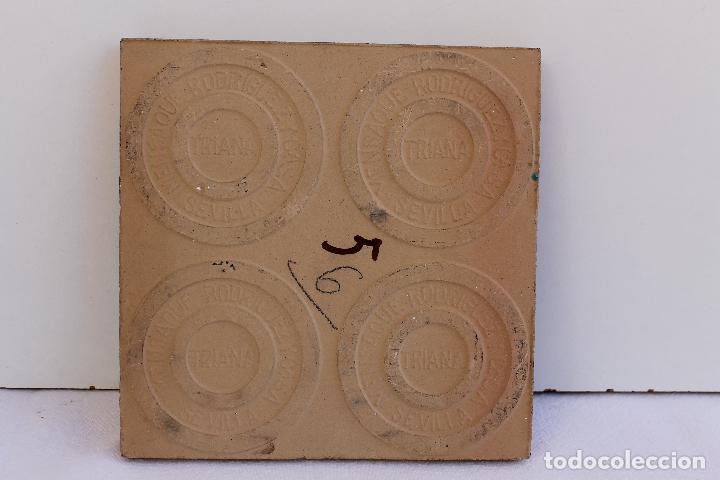 Antigüedades: 9 AZULEJOS DE MENSAQUE RODRIGUEZ FINALES SIGLO XIX - Foto 6 - 112806583