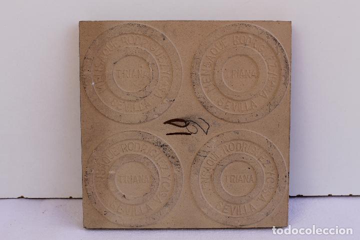 Antigüedades: 9 AZULEJOS DE MENSAQUE RODRIGUEZ FINALES SIGLO XIX - Foto 8 - 112806583