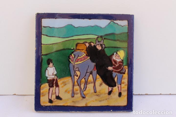 Antigüedades: 9 AZULEJOS DE MENSAQUE RODRIGUEZ FINALES SIGLO XIX - Foto 9 - 112806583