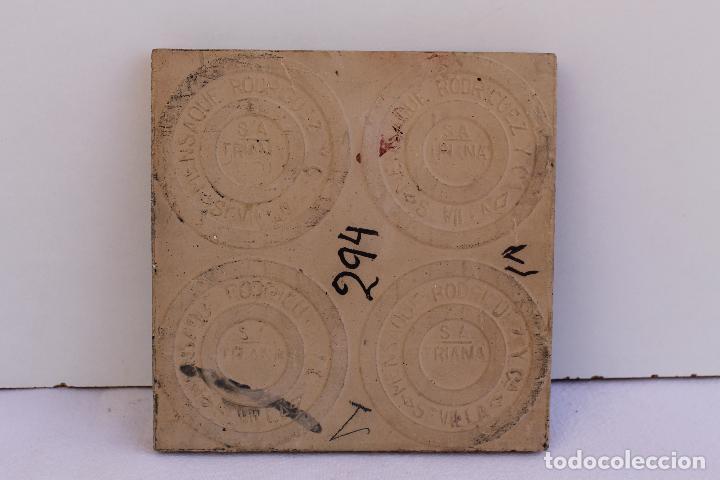 Antigüedades: 9 AZULEJOS DE MENSAQUE RODRIGUEZ FINALES SIGLO XIX - Foto 10 - 112806583